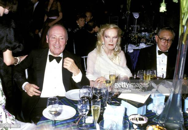 Jerry Zipkin Doris Duke and Henry Kissinger during Forbes Magazine's 70th Anniversary Celebration at Timberland Estate in Far Hills New Jersey United...