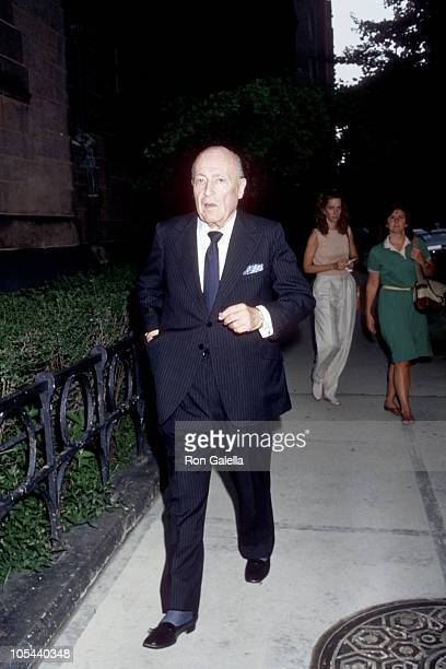 Jerry Zipkin during Funeral for Gloria Vanderbilt's Son, Carter Cooper - July 26, 1988 at St. James Episcopal Church in New York City, New York,...