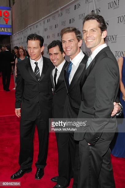 Jersey Boys Cast attends 60th annual TONY AWARDS red carpet arrivals at Radio City Music Hall NYC on June 10 2007 in New York City