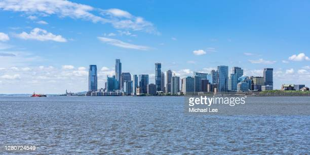 jersey city, new jersey skyline - new jersey stock pictures, royalty-free photos & images