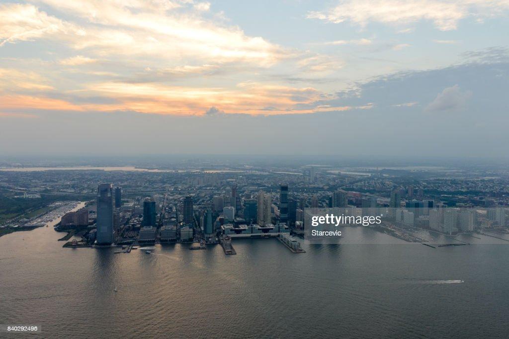 Jersey City skyline and cityscape : Stock Photo