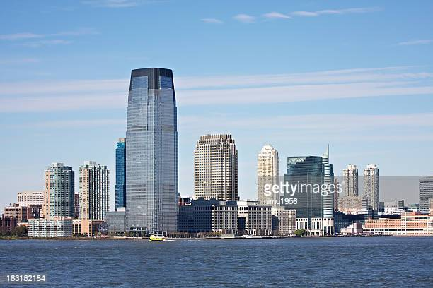 jersey city skyline - jersey city stock pictures, royalty-free photos & images