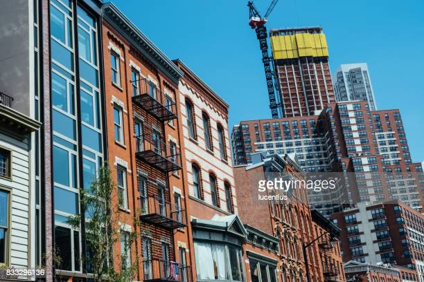 jersey city, usa at newark avenue - jersey city stock pictures, royalty-free photos & images