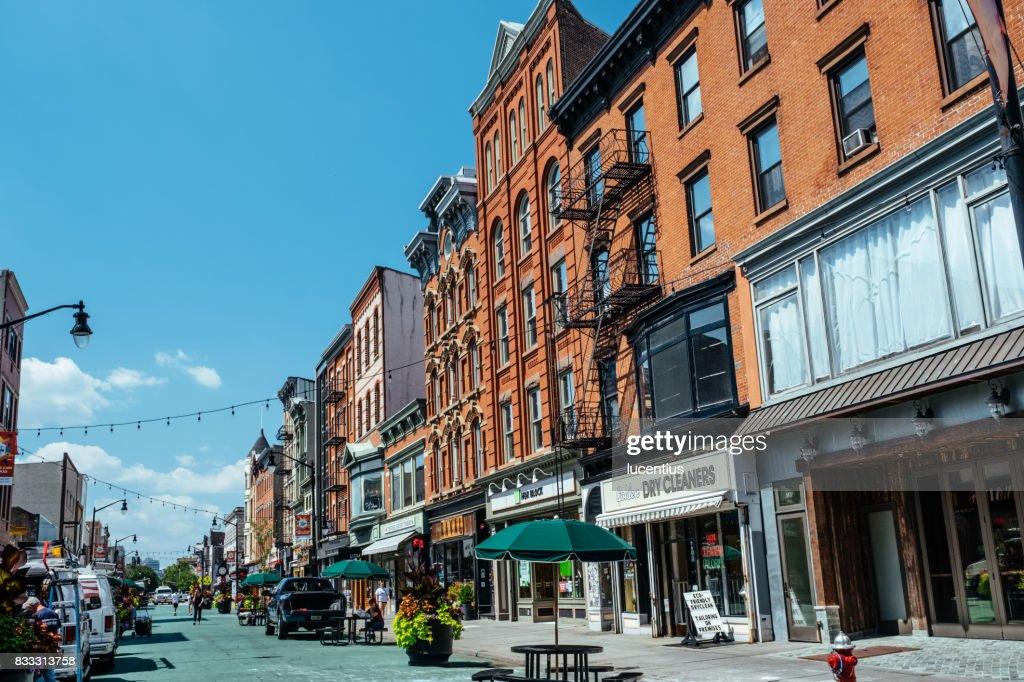 Jersey City, USA at Newark Avenue. : Stock Photo