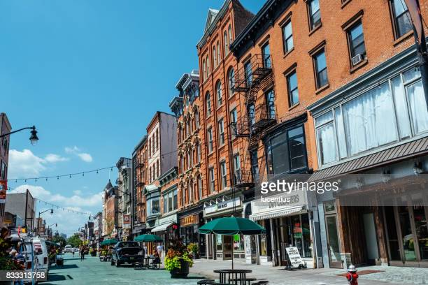 jersey city, usa at newark avenue. - jersey city stock pictures, royalty-free photos & images
