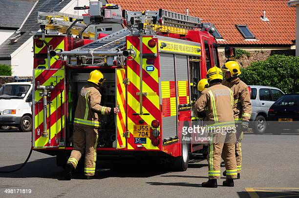 jersey fire service, u.k. - firetruck stock photos and pictures