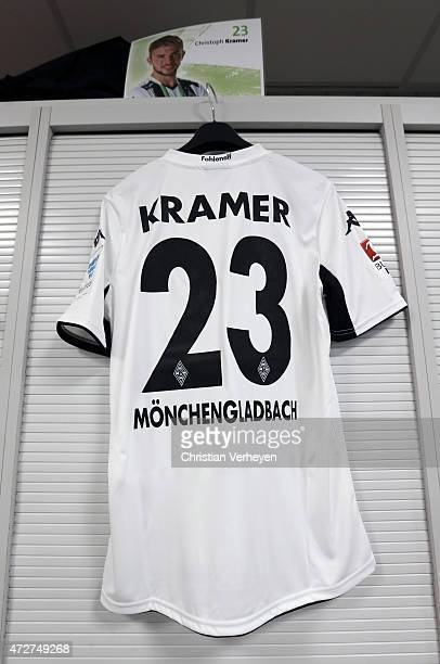 Jersey of Christoph Kramer at the Changing room of Borussia Moenchengladbach prior to the Bundesliga match between Borussia Moenchengladbach and...