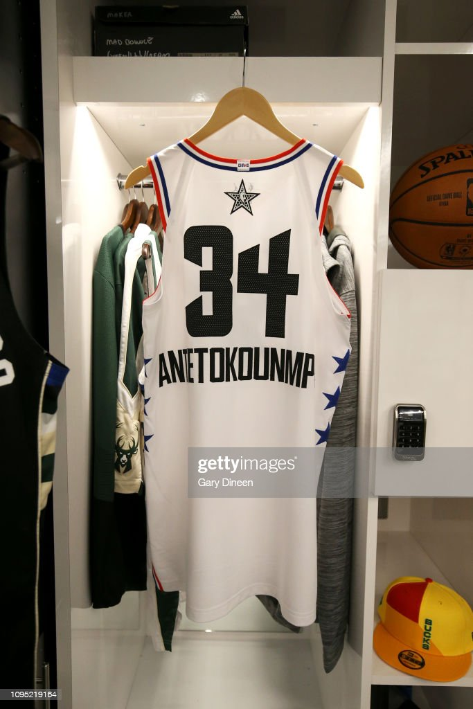 Jersey Of Giannis Antetokounmpo Of The Milwaukee Bucks During The