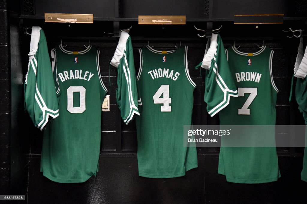 quality design 50c02 8622e Jersey of Isaiah Thomas, Avery Bradley, and Jaylen Brown of ...