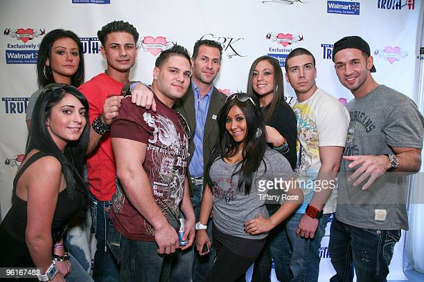 Jersey Shore cast members arrive at GBK's Gift Lounge for the 2010 Golden Globes Nominees and Presenters Day 2 on January 16 2010 in Los Angeles...