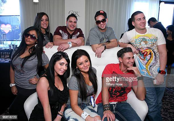 Jersey Shore cast members attend GBK's Gift Lounge for the 2010 Golden Globes Nominees and Presenters Day 1 on January 16 2010 in Los Angeles...