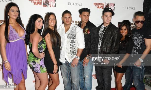 'Jersey Shore' cast members Jenni 'JWoww' Farley Angelina Pivarnick Sammi ÒSweetheartÓ Giancola Ronnie OrtizMagro Paul 'DJ Pauly D' DelVecchio Vinny...