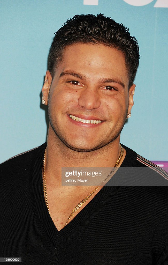 Jersey Shore cast Ronnie Ortiz-Magro arrives at Fox's 'The X Factor' Season Finale Night 1 at CBS Television City at CBS Studios on December 19, 2012 in Los Angeles, California.