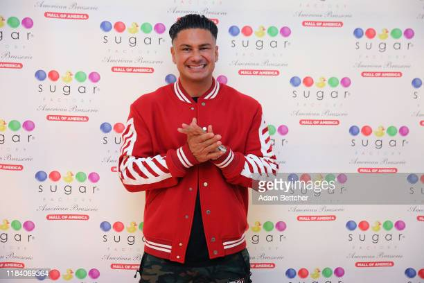 Jersey Shore star and DJ, Pauly D poses for the cameras at the grand opening of the Sugar Factory at Mall of America on November 22, 2019 in...