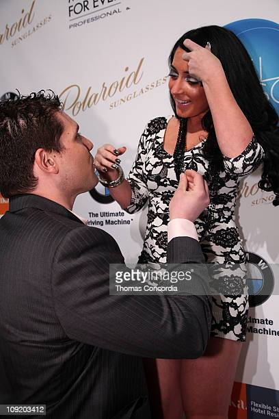 Jersey Shore star Angelina Pivarnick is proposed to by boyfriend David Kovacs at the Sachika Fall Collection Fashion Show during NYC Fashion Week...