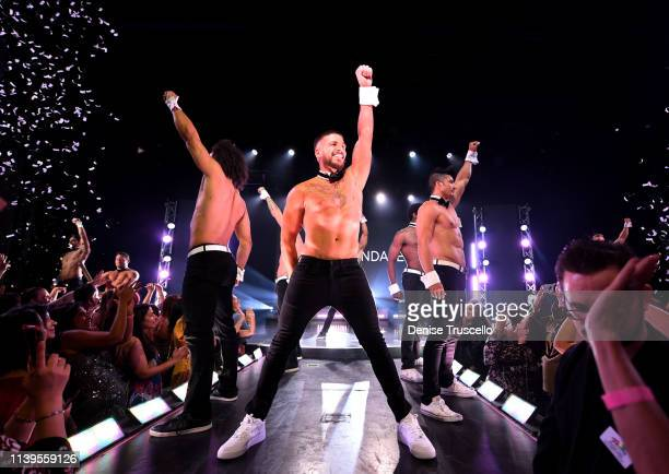 Jersey Shore star Vinny Guadagnino debuts as guest host of Chippendales at the Rio AllSuites Hotel And Casino on April 26 2019 in Las Vegas Nevada