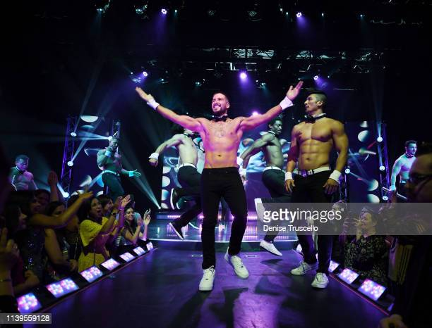 Jersey Shore star Vinny Guadagnino debuts as guest host of Chippendales at the Rio All-Suites Hotel And Casino on April 26, 2019 in Las Vegas, Nevada.