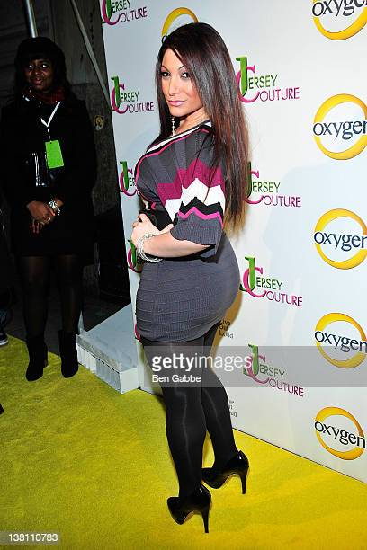 Jersey Shore's Deena Cortese attends the 'Jersey Couture' Season 2 launch at the Jersey Couture PopUp Beauty Bar on February 2 2012 in New York City
