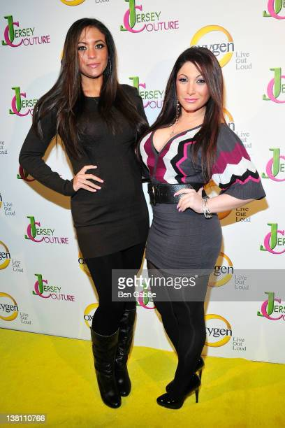 Jersey Shore's Sammi Giancola and Deena Cortese attend the 'Jersey Couture' Season 2 launch at the Jersey Couture PopUp Beauty Bar on February 2 2012...