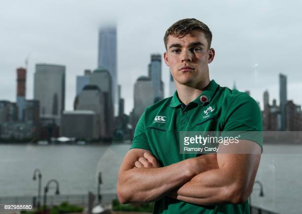 Jersey United States 6 June 2017 Ireland's Garry Ringrose poses for a portrait following a press conference at the Hyatt Regency Hotel in Jersey City...