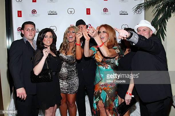 Jerseylicious cast members Frankie Bugligone, Gigi Liscio, Anthony Lombardi, Tracy DiMarco, Lorenzo Gangala, Gayle Giacomo, and Christy Pereira...