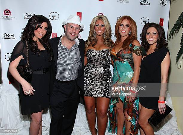 Jerseylicious cast members Gigi Liscio, Anthony Lombardi, Tracy DiMarco, Gayle Giacomo, and Christy Pereira attend the Gatsby Salon's Premiere Party...