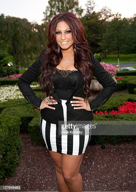 Jerseylicious TV Personality Tracy DiMarco arrives at Fashion Beauty Week 2011 at the Pleasantdale Chateau on October 3 2011 in West Orange New Jersey