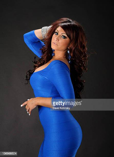 Jerseylicious TV personality Tracy Dimarco attends a portrait session on January 13 2012 in Little Falls New Jersey