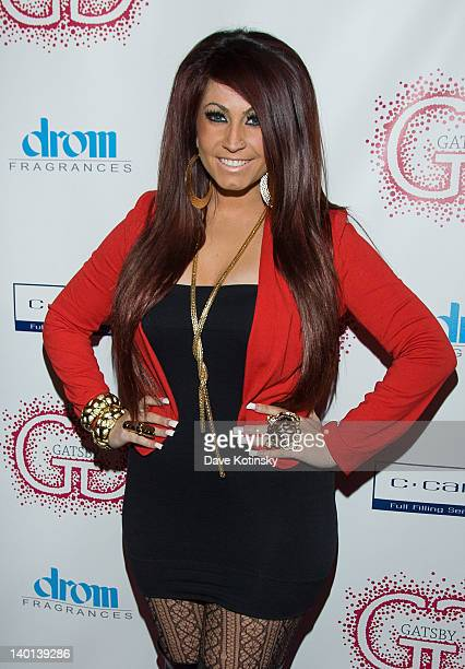 Jerseylicious TV personality Tracy Dimarco attends the Gatsby Haircare launch at DROM Fragrances on February 28 2012 in New York City