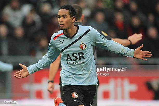 Jerson Cabral of Feyenoord during the Eredivisie match between FC Utrecht and Feyenoord at the Galgewaard stadium on December 11 2011 in Utrecht...