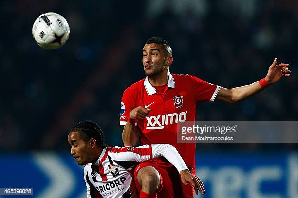 Jerson Cabral of Willem II and Hakim Ziyech of Twente battle for the ball during the Dutch Eredivisie match between Willem II Tilburg and FC Twente...