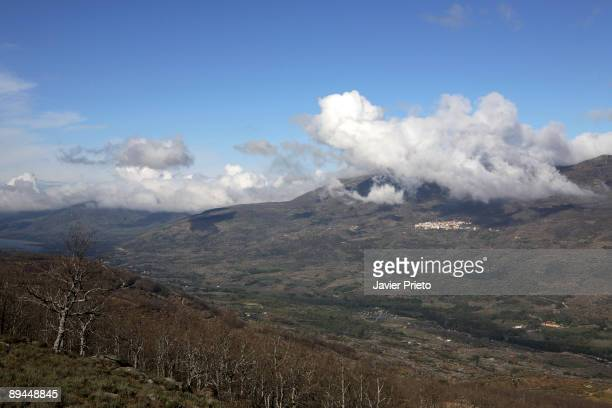 Jerte Valley Extremadura Clouds over the towns of Rebollar and Valdastillas
