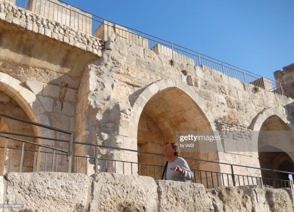 Jerusalem, a senior citizen in the old city : Stock Photo