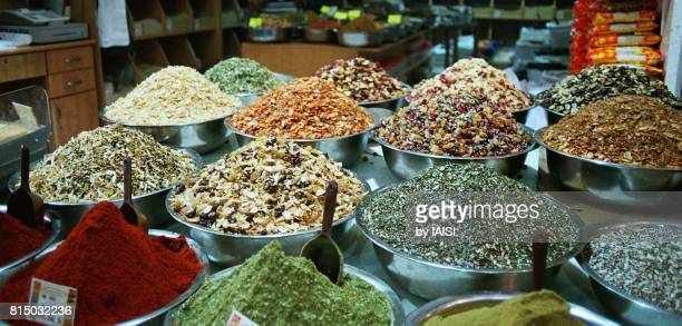 Jerusalem, a spice stand at Mahane Yehuda market