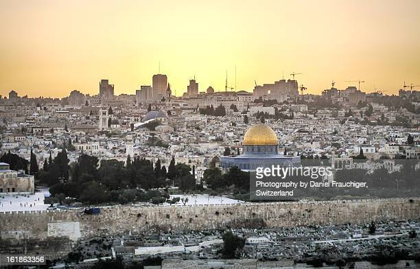 jerusalem after sunset - jerusalem stock pictures, royalty-free photos & images