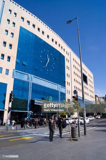 jerusalem central bus station. - 国際法 ストックフォトと画像
