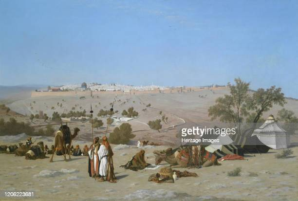 Jerusalem from the Mount of Olives, by 1880. Artist Charles Théodore Frère.