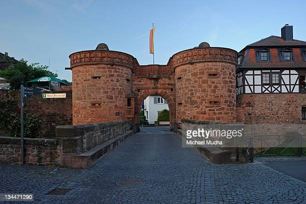 jerusalem gate, buedingen, wetterau region, hesse, germany, europe - michael mucha stock-fotos und bilder