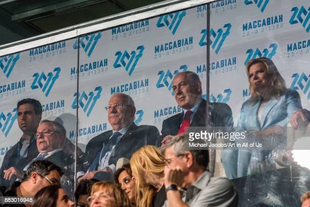 Jerusalem Israel 6 july 2017 Opening ceremony of the 20th Maccabiah games Benjamin Netanyahu and Reuven Rivlin