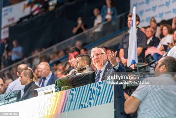 Jerusalem Israel 6 july 2017 Opening ceremony of the 20th Maccabiah games Reuven Rivlin speech
