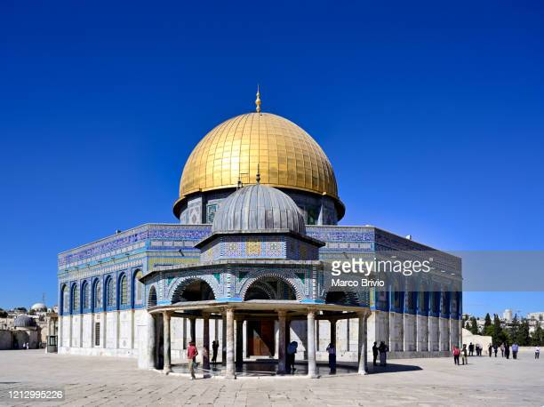 jerusalem israel. dome of the rock - marco brivio stock pictures, royalty-free photos & images