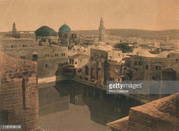 Jerusalem', mid-late 19th century. View of the Old City of Jerusalem, Palestine. The domes are those of the Church of the Holy Sepulchre and the...