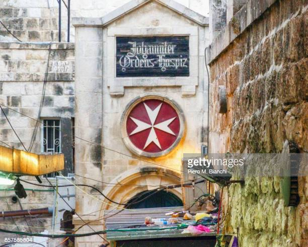 jerusalem - maltese cross stock photos and pictures