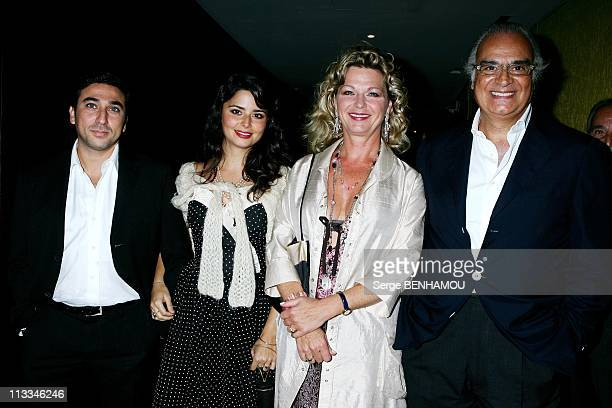 Jerusalem Premiere In Paris - On September 26Th, 2006 - In Paris, France - Here, Shirel With Parents Andre Djaoui And Jeane Manson And Her Friend...