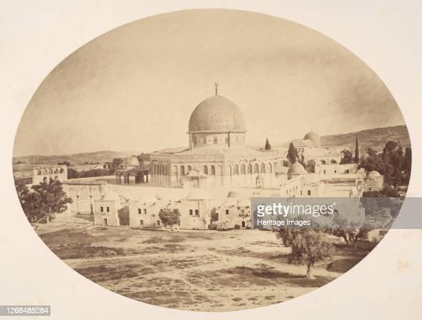 Jerusalem, Site of the Temple on Mount Moriah, 1857. Artist John Anthony.