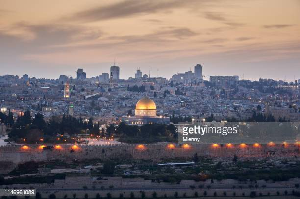 jerusalem sunset al aqsa mosque israel - palestinian stock pictures, royalty-free photos & images