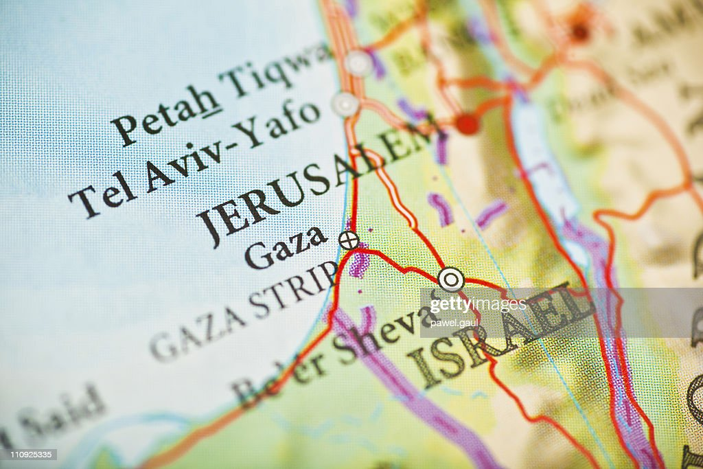 Jerusalem,Israel map : Stock Photo