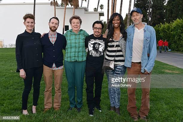 Jerusha Hess Aaron Ruell Sandy Martin Efren Ramirez Shondrella Avery and Jon Gries attend the Sundance NEXT FEST screening of 'Napoleon Dynamite' at...