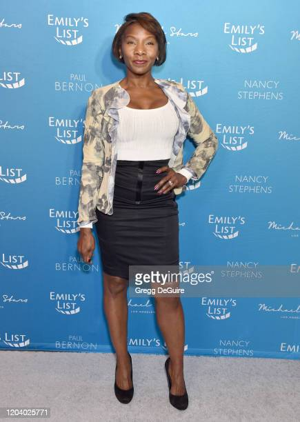 Jeryl Prescott attends EMILY's List 3rd Annual Pre-Oscars Event at Four Seasons Hotel Los Angeles at Beverly Hills on February 04, 2020 in Los...