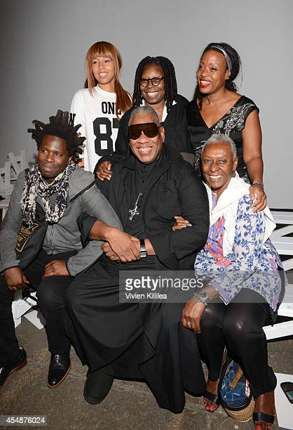 Jerzey Dean actress Whoopi Goldberg fashion designer Tracy Reese Bradley Theodore Andre Leon Talley and filmmaker Bethann Hardison attend the Tracy...